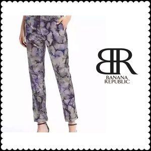 Banana Republic Purple Sun Dyed Silk Ankle Pants